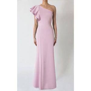 Black Halo Mabel One Shoulder Gown, La Rose Pink 0